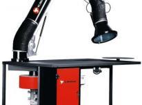 Suvirintojo darbo stalas su ventiliacija
