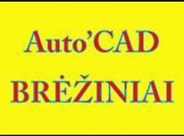 Braižau, perbraižau brėžinius - AutoCad