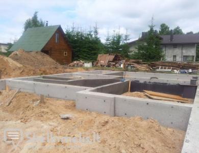 Pamatu liejimas, betonavimas ir kiti darbai