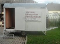 Statybinių vagonėlių nuoma