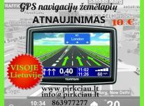 GPS NAVIGACIJŲ ŽEMĖLAPIŲ atnaujinimas visoje L
