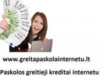 Kreditai internetu. Greitas kreditas. Paskolos.