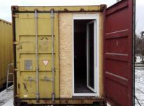 Išnuomojamas statybinis konteinerinis vagonėlis