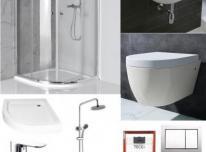 Pilnas dušo kambario įrangos komplektas