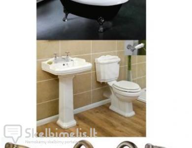 Retro, klasikinis  vonios kambario įrangos komple