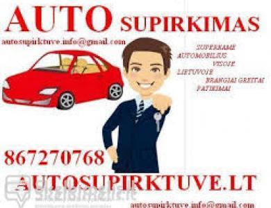 AUTO SUPIRKIMAS GREITAS PATIKIMAS