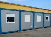 Konteinerinės patalpos, statybiniai vagonėliai
