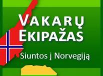 Siuntos, keleiviai į Norvegija
