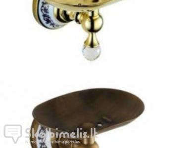 Retro, klasikinė, bronzinė muilinė