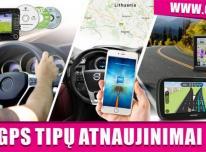 VISŲ GPS TIPŲ ŽEMĖLAPIŲ ATNAUJINIMAI, ĮDIEGI