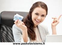 Paskolos kreditai internetu be užstato.