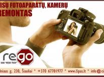 Profesionalus, greitas FOTO/VAIZDO kamerų remonta