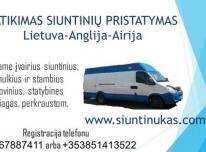 Siuntos Lietuva-Anglija- Airija-Lietuva