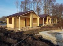 Medininiai namai iš Klijuoto Tašo(rasto)