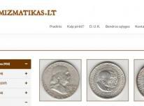 Apsilankykite  monetu parduotuveje Numizmatikas.lt