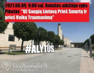 """Piketas """"Už Saugią Lietuvą Prieš Smurtą"""