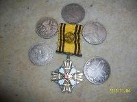 Perku monetas, ordinus, zenklus ir  GINTARA